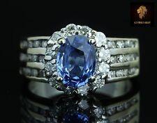 $5950 / NEW / Levian / 18K Gold / AAA Royal Blue Ceylon Sapphire & Diamonds Ring