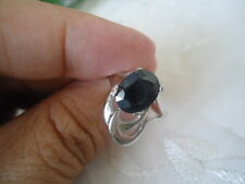Natural Deep Blue SAPPHIRE Stone 925 STERLING SILVER RING S5.5