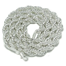 "Rope Chain Mens Black Hematite Silver 10mm Wide Chain 30"" Inch Dookie Necklace"