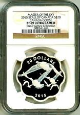 2015 S$20 Masters Of The Sky Canada Goose Scallop NGC PF69 Ultra Cameo