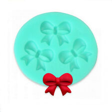 1X Silicone Candy Cake Mold Butterfly Bow Designed Fondant Mould Cooking Tools