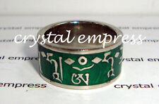 FENG SHUI - SIZE 9 GREEN TARA MANTRA RING
