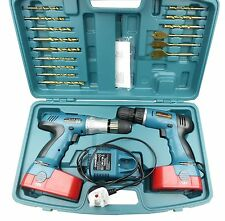 Neilsen 18V Twin 2 Cordless Hammer Impact Driver / Drill 2 x Batteries CT0585
