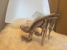 Petite Pleaser Clear Stripper Exotic Dancer Platform Slide Heels
