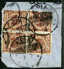 Samoa V 50 d  Viererblock  Briefstück  Apia  1896