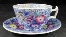 Spode WILD FLOWER BLUE Cup & Saucer Set 2/6748 GREAT CONDITION