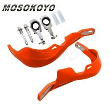 "Dirtbike Off-Road Brush Hand Guards For 1-1/8"" 28mm Handlebar KTM EXC XC Orange"