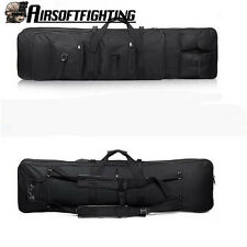 "800D 47"" 120cm SWAT Dual Tactical Rifle Carrying Case Gun Bag Fishing Bags Black"