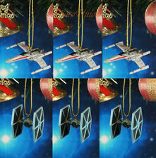 Decoration Xmas Ornament Home Decor Star Wars Tie Fighter vs X Wing Set 3 ABx3