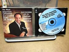 DOUG FABIAN Self-Help Advisor 2-CD set 2002 Insights to Success & Wealth 25 Year