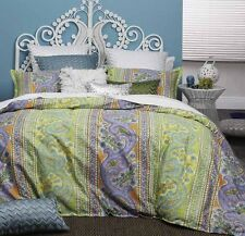 Queen Size Bed Doona Duvet Quilt Cover Set FRESCO CITRUS By Logan and Mason