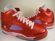 Nike Air Jordan Girls Retro 5 GS Gym Red Pink Valentine SZ Youth 7Y (440892-605)