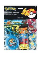 48 Pezzo Pokemon Festa di Compleanno Bottino Borsa riempitivi, Frisbee fischio Puzzle Righello