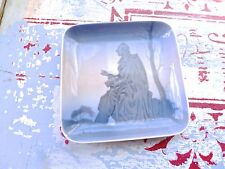 VINTAGE BING & GRONDAHL PORCELAIN DISH - HANS C ANDERSEN STATUE SMALL TRAY - B G