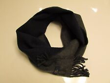 NEW  Authentic Polo Ralph Lauren Classic Navy Gray Solid Scarf  Unisex  Italy