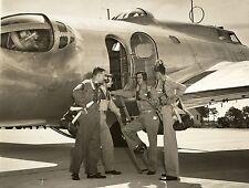 WWII Photo USAAF Boeing B-17 Prototype with Crew Model 299   WW2 B&W / 5186