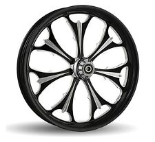 """DNA """"BEAST"""" CONTRAST CUT FORGED BILLET 23""""X 3.75"""" FRONT WHEEL HARLEY 00+ TOURING"""