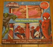 Marvel Ultimate Spiderman Nestle Hot Cocoa Mug Set 2 Mugs - NIP