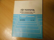 Body Workshop Manual Toyota Avensis Verso / Picnic 06.2001