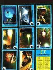 1982 Topps E.T. Extra Terrestrial Complete Set of 87 Cards Plus 9 Stickers