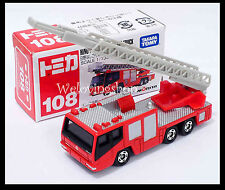 TOMICA #108 HINO AERIAL LADDER FIRE TRUCK 1/139 TOMY Diecast Car