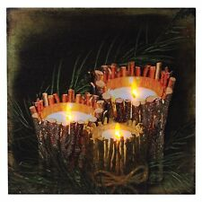 "TWIG CANDLES Lighted Canvas, LED Light, 12"" x 12"" by Ohio Wholesale"