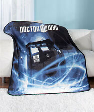 BBC Doctor Who TARDIS Plush Throw Blanket - Officially Licensed Doctor Who
