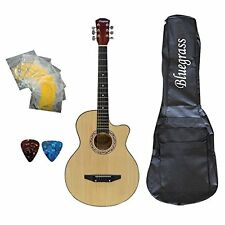 Bluegrass A180C Medium Acoustic Guitar Natural With Free Case, String & Picks