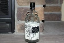 THE KRAKEN BLACK SPICED RUM EMPTY 1.75 L BOTTLE W/ HANDLE GREAT PROP COOL LABEL