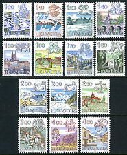 Switzerland 717-728A,MNH. Definitive. Sings of the Zodiac, City Views, 1982-1986