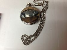 Austin Healey 100/4 (Plain) ref23 emblem on polished silver case pocket watch