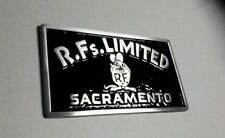 car club plaque RF's Limited Sacramento rat street rod drag plate 1932 ford