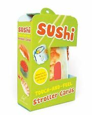 Sushi Touch-and-Feel Stroller Cards c2012 NEW Boxed Board Book on a Ring