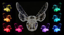 Solar Powered Bumble Bee, Garden Lawn Decor Stake Color Changing LED Lights