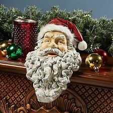 Santa Claus Clause Father Christmas Kris Kringle Statue Stocking Stuffer Holder