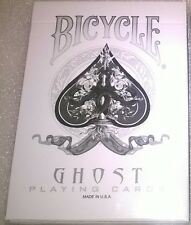 SVENGALI - WHITE GHOST - Close-Up Bicycle Magic Trick Deck Cards & instructions