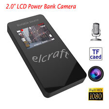 """2.0"""" LCD 1080P HD Spy Camera Power Bank IR Night Motion Activated Video Recorder"""