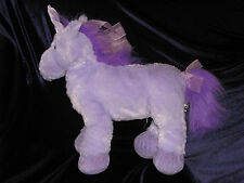 "18"" PLUSH PURPLE PRINCESS UNICORN RIBBON MANE HORSE TOYS R US STUFFED ANIMAL"