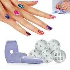 Fashion Pro Nail Art Finger Stampimg Polish Set DIY Manicure Stencil Kits Design