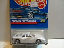 Hot Wheels #497 Pearl White Ferrari Testarossa w/Lace Wheels