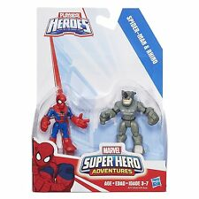 Playskool Heroes MARVEL SUPER HERO AVVENTURE-SPIDER-MAN & Rhino Figure
