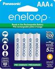 Sanyo eneloop New 1500 AAA Ni-MH Pre-Charged Rechargeable Batteries 4 Pack
