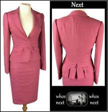 55 Next  size 8 eu36 40s 50s vintage bustle detail pink skirt jacket suit womans