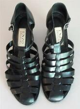 ENZO ANGIONINI BLACK STRAPPY 10 M MEDIUM HEELS SHOES LEATHER SANDALS EXCELLENT!
