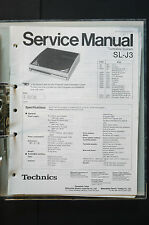 TECHNICS SL-J3 Original Turntable/Turntable Service Manual/Wiring diagram