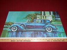 1940 LINCOLN 12 w. WILLOUGHBY BODY 13 x 23 ART PRINT PICTURE POSTER 40 BROCHURE