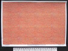 "O gauge (1:48 scale) ""red/orange brick ( english bond)"" paper - A4 sheet"