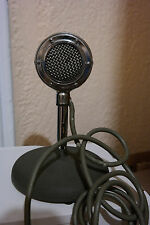 Vintage 1930's Rare Shure Model 70H Crystal Microphone With ORIGINAL Stand