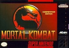 ***MORTAL KOMBAT SNES SUPER NINTENDO GAME COSMETIC WEAR~~~