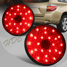 For 2008-2010 Toyota Highlander Red Lens LED Rear Bumper Stop Brake Light Lamps